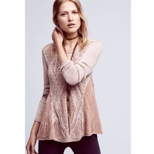 Anthropologie Moth Swing Cable Knit Sweater